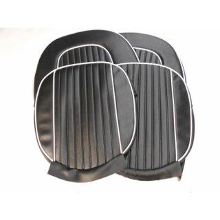 Satz Sitzbezüge Spitfire MK 2-3 schwarz mit Keder weiss