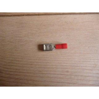 Flachsteckhülse isoliert 6,3mm 1,5²