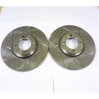 Paar Bremsscheiben Spitfire TRW gelocht/geschlitzt
