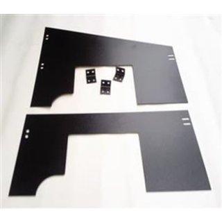 Paar Seitenverkleidungen Motorraum Alu schwarz
