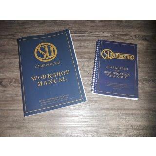 SU Set Werkstatthandbuch und Teilekatalog für SU Vergaser, alle Typen, in englischer Sprache, original SU