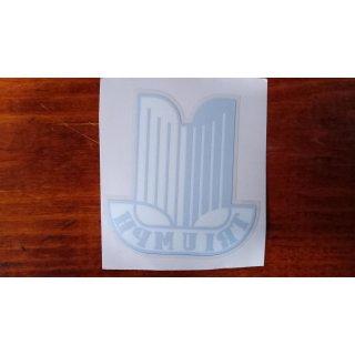 Aufkleber Hinter Glas Triumph Wappen weiss / blau, ca. 7,5 x 7cm