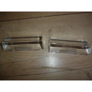 Paar Gläser Nummernschildleuchte breit